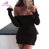 Big Stock Black Mini Bodycon Casual New Ladies Sexy Dress