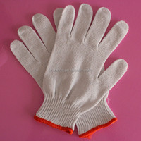 seamless knit cotton working glove safety equipment