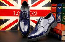 Wholesale British style handmade leather shoes upscale men flat leather shoes