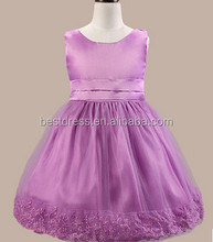 2016 new flower party dress pink flower girl dress cheap weeding dress