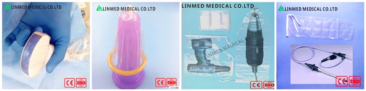CE ISO and US FDA approval probe cover With Gel