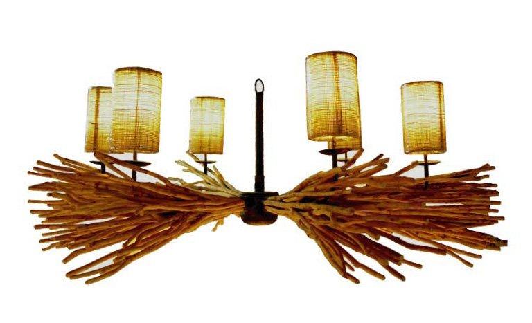 Bois flott lustre 6 lumi res id de produit 112493103 for Fournisseur bois flotte