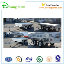 Galvanized heavy duty flatbed car towing trailer for sale