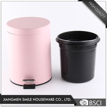 Living room pink powder coating 13 gallon trash can