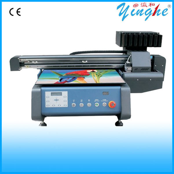 Outdoor advertisement with photoprint software 3d uv led flatbed printer