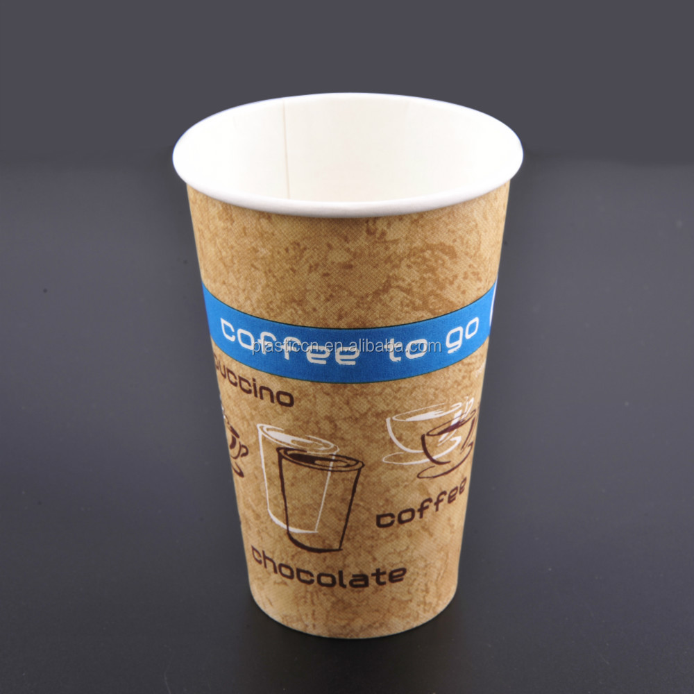 Wholesale 2016 new cups for hot coffee/ tea paper cup PS lid / cover