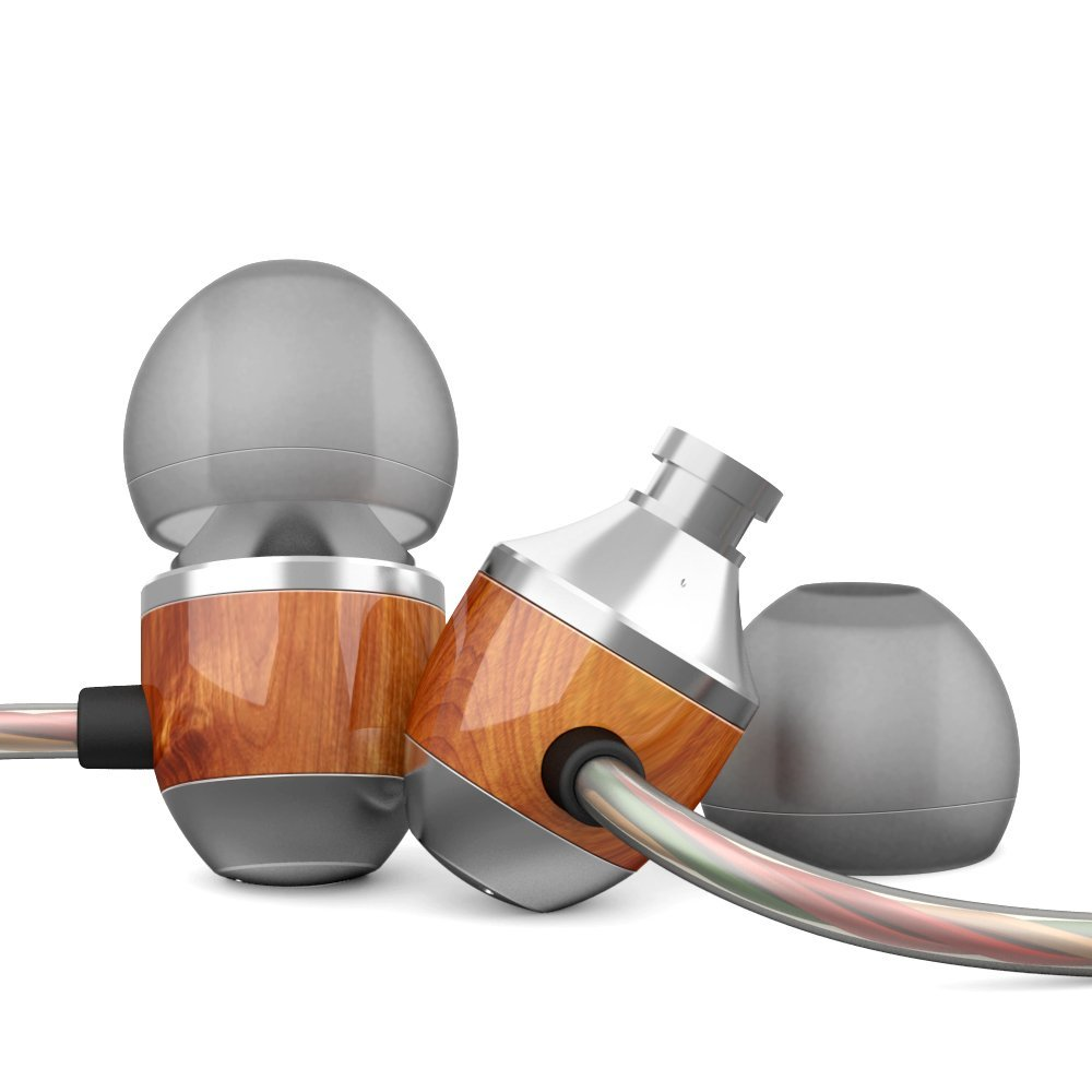 VJJB K4/K4S In-ear Wooden Headphones Wired With Mic Bass Earbuds Earphones For 3.5mm Device
