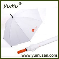 "23"" Wood Handle Promotional Stick Umbrella with Wood Shaft"