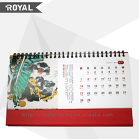 Latest new design good quality wholesale custom table calendar 2015
