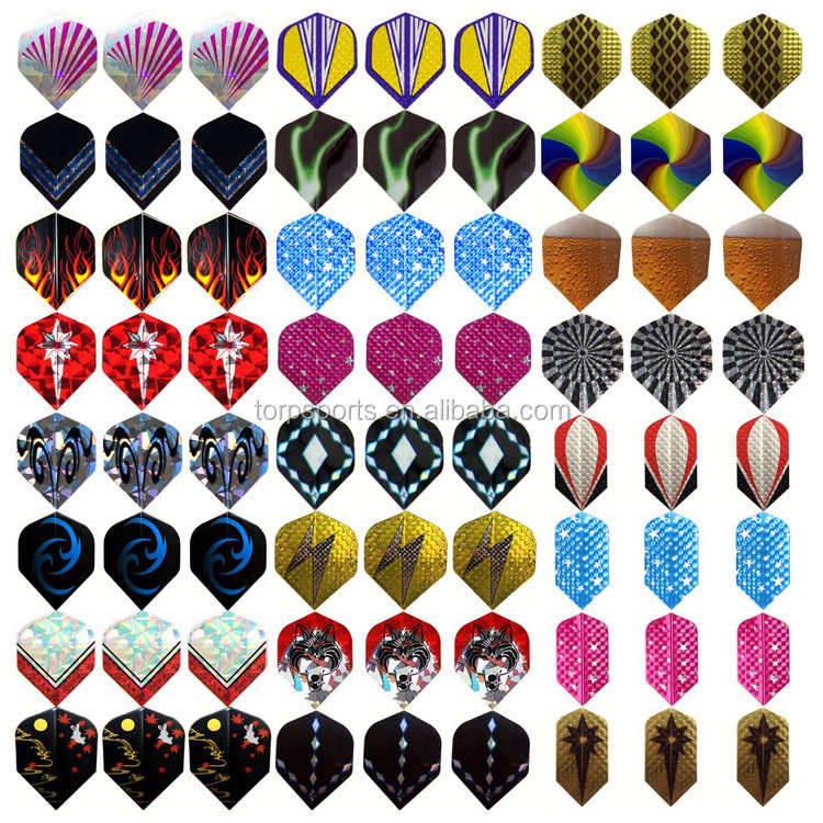 Dart Flights Durable PET and Laser Flights for Darts, Perfect Accessories Equipment Supplies for Dart Games TD-A005