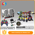 boy toy plastic remote control fighting robot toy with light and music