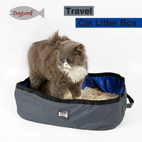 Foldable Outdoor Travel Cat Litter Box Pet Toliet Pan Cat Box