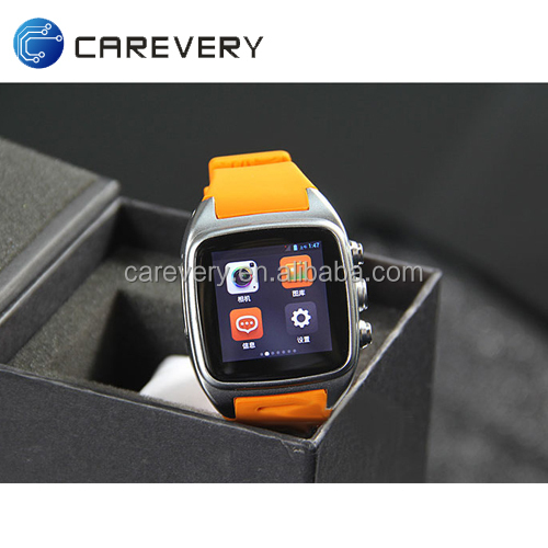 "Best 1.54"" android smart watch phone with sim card slot, android 4.4 smart phone wrist watch mobile phone"