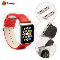 For apple watch alligator leather band,for iwatch leather band croco pattern,for apple replacement watchband