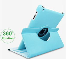 Flower Design 360 Rotating PU Leather Tablet Case For iPad air 4