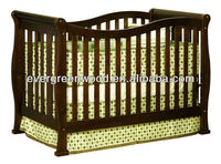 3 in 1 Baby Crib with Toddler Rail