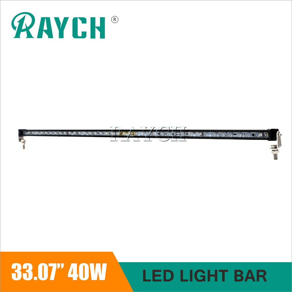 Single row 40W LED Work Light Bar 33.07'' DRL Offroad Car ATV 4WD Mini 4X4 Motorcycle Boat Camper AWD Truck Driving Headlight