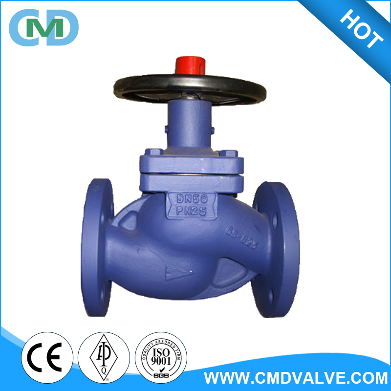 DIN Non rising stem DN50 PN25 Flanged GS-C25 Globe Valve in China