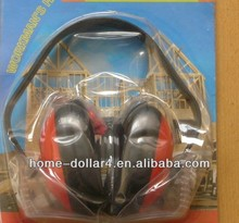 hearing production plastic safety industrial red and black ear muff