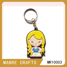 cartoon silicone material sexy girl key chain