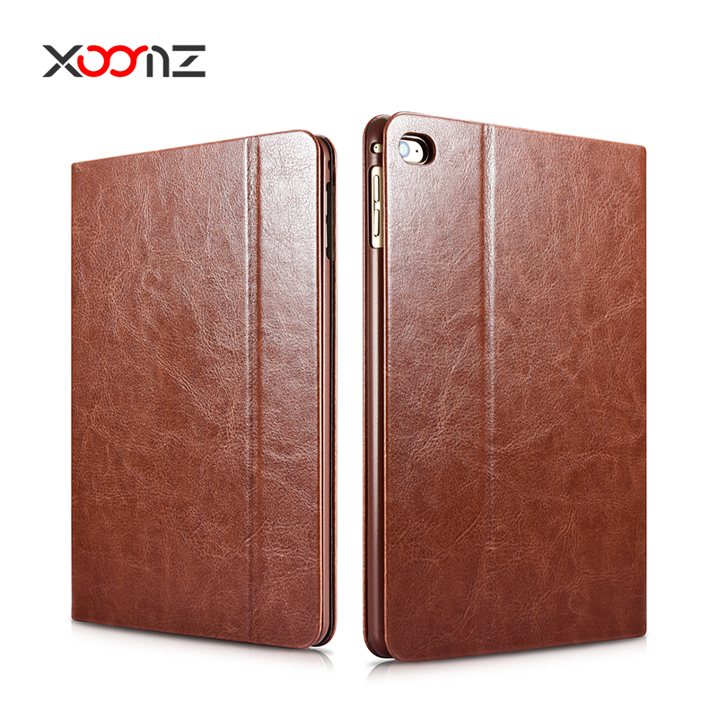 XOOMZ PU Leather Tablet Case for iPad mini 4 Flip Cover with Smart Wake Up / Sleep