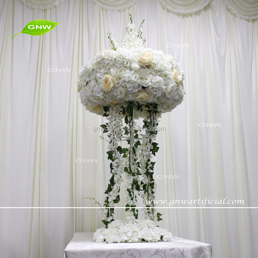 GNW CTR161024-001 table decorations centerpieces wedding white artificial flower ring centerpieces