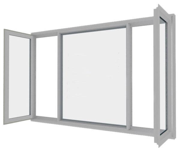High Quality Interior Home Germany Conch Profile Swing/Casement Window Upvc Window