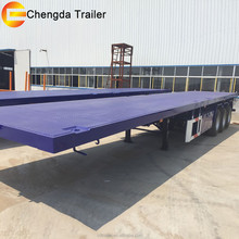 Hot Sale Customized 20ft 40ft Container Carrying Flatbed Semi Trailer Driven by Jinan Truck Parts Sent Together