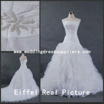 S5010 Real Photo Exquisite Ruffles Tulle Suzhou Wedding Dress