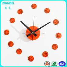 hot sale home decorative acrylic balls wall clock
