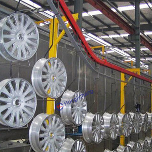 Car Vehicle Parts Automatic Powder Coating Line for Aluminium Profile