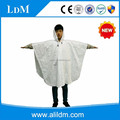 Customized color and logo environmental friendly pvc rain poncho