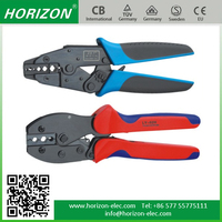 Manual (non)Insulated Terminal,Coaxial Cable Conductor end-sleeve Ratchet heavy duty cable lug crimping tool
