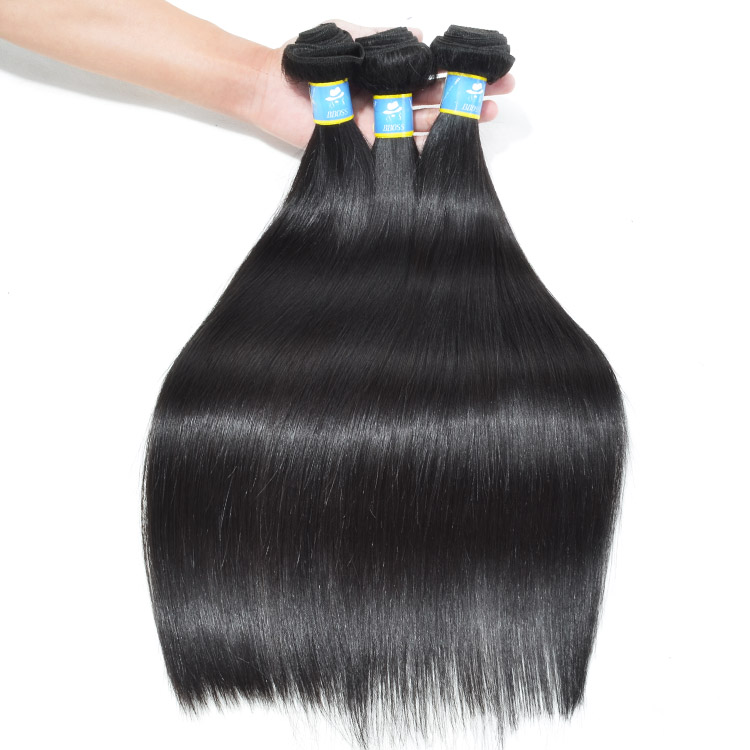 Raw virgin unprocessed indian hair <strong>weave</strong>, top silky straight indian temple hair