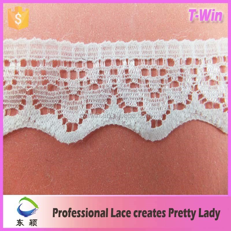 Manufacturer new lace trimming/Fashion wholesale bridal lace trim/Wholesale hot cotton lace trimming edging