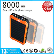 Shenzhen wholesale Factory mobile solar charger 8000mah