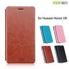 MOFi Original Fundas Celulares Flip Cover for Huawei Honor V8, TPU Bracket Back Case for Honor V8
