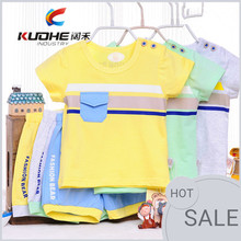 summer new model baby cotton clothes wholesale kid clothes sets baby boys clothes