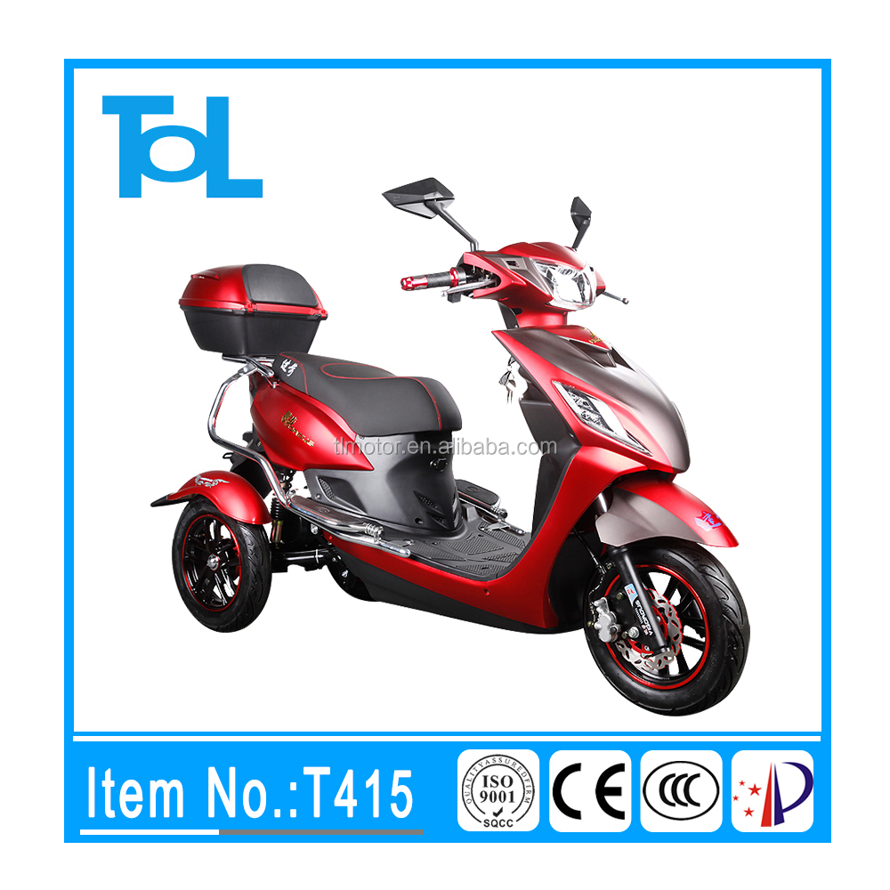 fashion red style 3 wheel motor scooter for adult electric vehicles for disabled