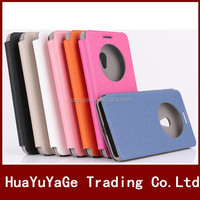 New Arrival round window cover view flip leather case For Asus ZenFone 5 6