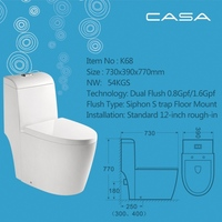 Natural and Elegant siphonic flushing toilet