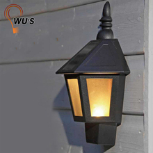 ECO-Friendly outdoor garden light sensor mini solar lights solar plastic wall light