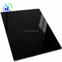 ceramic glass heat resistant stove glass black colored ceramic heat proof glass