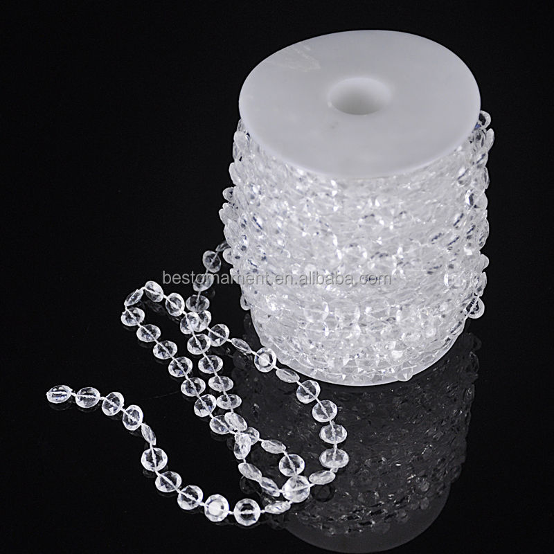 Wholesale 99FT 30m Crystal Clear Bead Acrylic Chandelier Hanging Garland For <strong>Wedding</strong> and Party