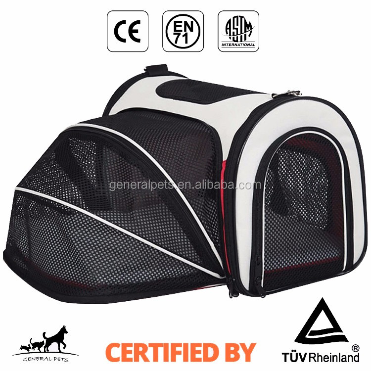 Wholesale Expandable Pet Carrier Airline Approved Comfortable Soft Sided Travel Carrier