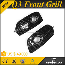 ABS Chromed Black Car Front Bumper Foglamp Cover for AUDI Q3 SQ3 RSQ3 13-14