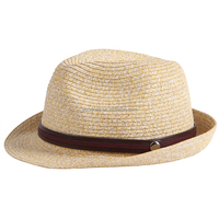 unisex cheap natural belt paper straw jazz fedora top hats