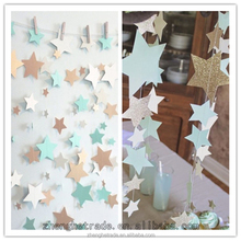 Wholesale stars wedding and party decoration paper garlands