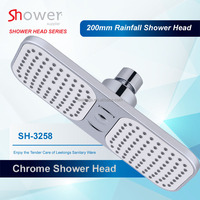 SH-3258 Chromed Waterfall Wall Mounted Single Functional Plastic Head Shower
