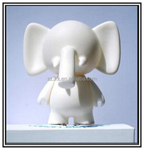DIY urban elephant vinyl figure, White blank vinyl mini figure,2015 new plastic toys factory